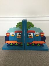 Children's Wooden train bookends