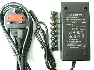 4.5 amp 12/15/16/18/19/20/24 volt AC-DC Laptop Power Supply/Charger (96 watt)