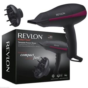 Revlon Hairdryer Salon Power 3 Heat 2 Speed With Diffuser New
