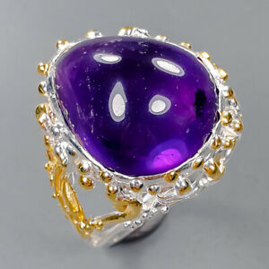 10ct Luster Handmade Amethyst Ring Silver 925 Sterling  Size 7.5 /R158114