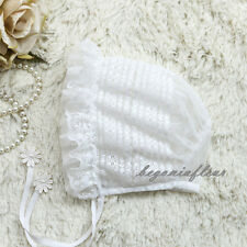 White Lace Vintage Summer Beanie Sun Hat Cap Toddler Infant Baby Kid 02