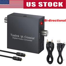 Optical To Coaxial OR Coax Digital Audio Converter Bi Directional SPDIF Toslink
