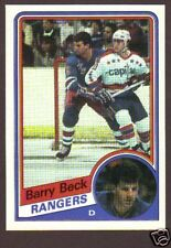 1984-85 Topps Hockey Barry Beck #105 NY Rangers NM/MT