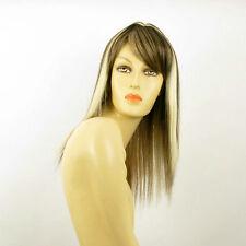 Parrucca donna lunghezza media mechato biondo chiaro mechato ramato cioccolato
