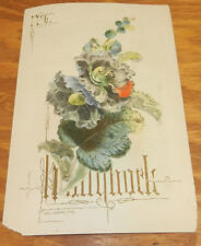 c1850s Antique COLOR Print/ HOLLYHOCK, Lithograph by Paul Jerrard