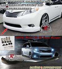 CityKruiser Front Lip (Urethane) Fits 11-17 Toyota Sienna [Won't Fit SE Model]