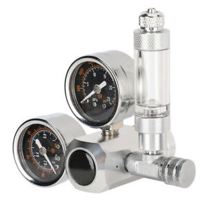CO2 Regulator Aquarium Dual Gauge Display With Bubble Counter And Check Valve(
