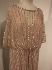 Blush Pink/nude Monsoon Dress 18 BNWT