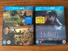 Clash of the Titans/Wrath of the Titans & The Hobbit (3D Blu-ray) New & Sealed