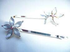 Hair clips - Star Silver gemstones   - Costume Jewellery