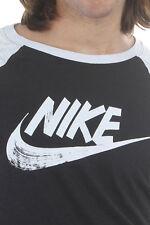 SZ XL Casual Rostarr Men's Nike T-Shirt 3/4 Raglan Black/White 806286-010 $40