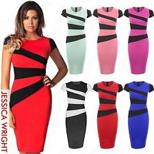 Party Cap Sleeve Stretch, Bodycon Striped Dresses for Women
