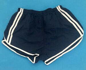 Vintage Blue Jogger Running Shorts Retro French soldiers army 90s