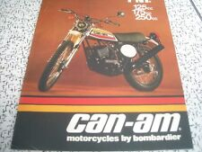 1974 Vintage BOMBARDIER CAN AM TNT Motorcycle Brochure SKI DOO