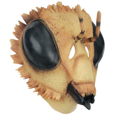 ADULT LATEX YELLOW BUMBLE BEE HONEYBEE BUGS INSECT COSTUME MASK ALIEN CREATURE