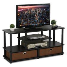 Furinno Jaya Large TV Stand, Espresso, 52