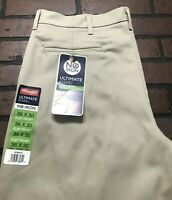 Wrangler Flat Front Classic Fit Ultimate Khaki No Iron Pants Men's Size 36 x 30