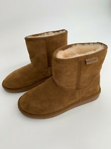 Minnetonka Suede Ankle Boots Fur Lined Womens Sz 6 NWOT