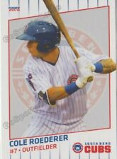 2019 South Bend Cubs Cole Roederer RC Rookie Chicago
