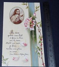 CHROMO 1991 IMAGE PIEUSE CATHOLICISME HOLY CARD  THERESE MARTIN LISIEUX RELIGION