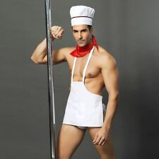 Sexy Men's Cook Chef Uniform Temptation Cosplay Bar Underwear Costume Role Play