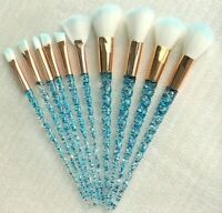 10pcs unicorn makeup brushes set  foundation powder eyeshadow blush glitter tool