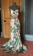 GORGEOUS LONG TALL SALLY MULTI PRINT MAXI EVENING DRESS, SIZE 16