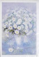 PRL) 1988 EDITH VD WISSEL VINTAGE AFFICHE ORIGINAL ART PRINT ARTE POSTER FLOWER