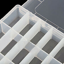 24 Slots Plastic Storage Box Case Home Organizer Earring Jewelry Container 1pc