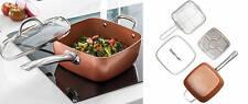 Padella In Rame Copper Chef + Coperchio Vetro + Cestelli Omaggio