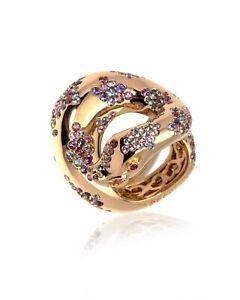 Pasquale Bruni Peccato 18k Rose Gold And Sapphire Ring Sz 5.5 13104R-11 $11400