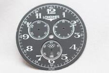 Longines Metallic Black Olympic Chronograph Wristwatch Dial  37mm Used WC102708