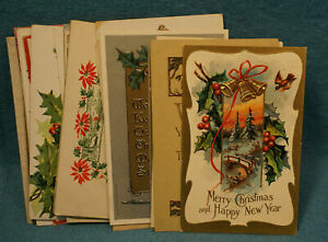 Vintage Christmas Day Holiday Postcard Lot (20) Used. Early 20th Century