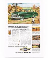 1952 Chevrolet Chevy Green Deluxe Sport Coupe Automobile Car Vtg Print Ad