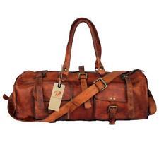 Vintage Duffel Bag Travel Luggage Weekend Overnight Gym Genuine Leather