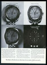 1969 Bulova SkyStar Sky Star world time watch photo vintage print ad