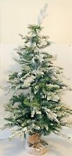 "Vickerman Frosted Sable Pine Christmas Tree 100 Warm White Led Lights 48"" X 32"""
