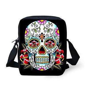 Flower Skull Fashion Shoulder Bag Small Messenger Purse Women Handbag Satchel