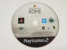jeu seul GREAT BATTLES OF ROME pour playstation 2 sony PS2 en francais loose