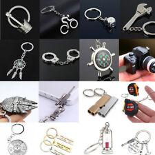 Fashion Sliver Keychain Keyring Metal Keyfob Bag Pendant Car Key Chain Gifts