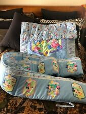 Vintage Disney Babies Crib Bumper/Blanket Set - Baby Mickey, Minnie & Pluto