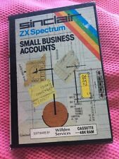 RARE Sinclair ZX SPECTRUM 48K SMALL BUSINESS ACCOUNTS Boxed  Instructions 1983