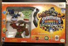 Wii Skylander Giants Starter Kit W/ 3 Skylanders(1 glow in the dark) + Wii Game