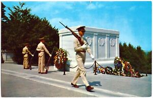 POSTCARD TOMB OF THE UNKNOWN SOLDIER, ARLINGTON NATIONAL CEMETERY, VIRGINIA, USA