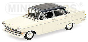 Opel Captain P2 Limousine 1959-64 White-Blue White Blue 1:43 Minichamps