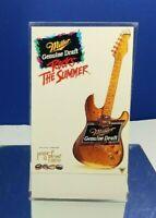 1995 MILLER GENUINE DRAFT ROCKS THE SUMMER ADVERTISING TABLE TOP CARD TENT