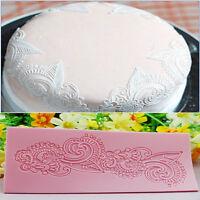 Flower spitze silikonform fondant zucker matte kuchen dekoration werkzeug R SE