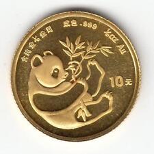 CHINA 1984 1/10 oz PURE GOLD 10 Yuan Chinese Panda Coin