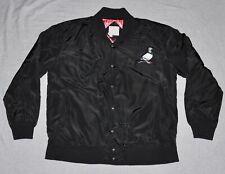 STAPLE Snap Satin Jacket Quilted Lining Men's XL X-LARGE Black Pigeon Jeff SB