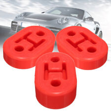 3PCS red Universal Upgraded Heavy Duty Exhaust Rubber Hanger Support Mounts +